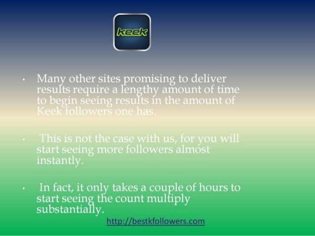 Get many followers on keek free Slide 3