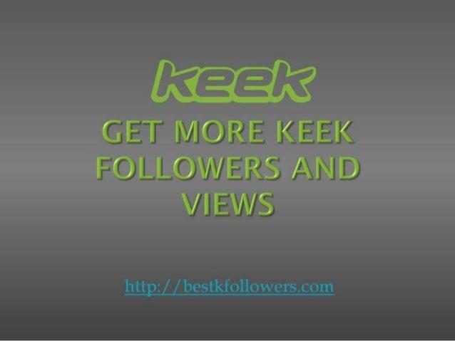 Get me followers on keek