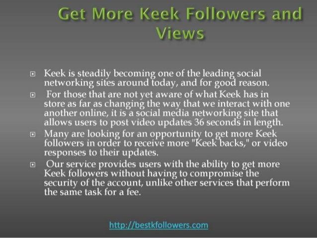 Get me followers on keek Slide 2