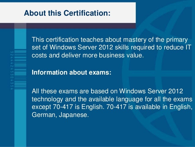 Windows exam's question ( 70-410 )?