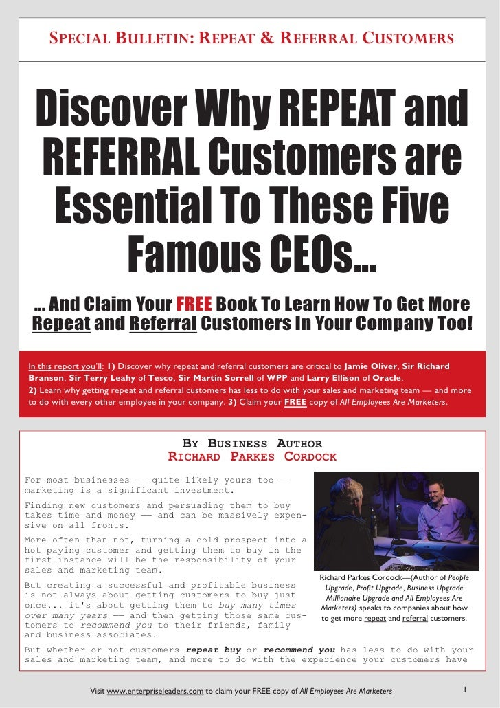 How To Get More Repeat and Referral Customers