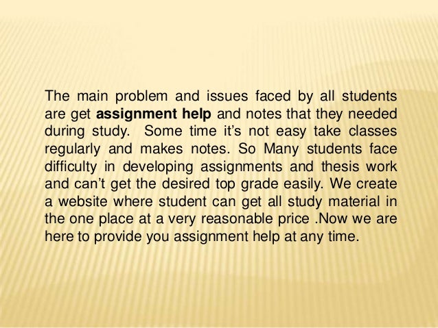 A Website for Those Who Need Help with Assignment
