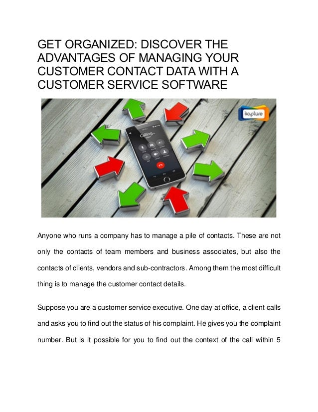 Get Organized: Discover the Advantages of managing your Customer Cont…
