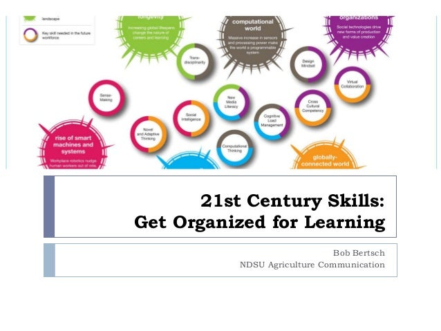 21st Century Skills: Get Organized for Learning Bob Bertsch NDSU Agriculture Communication