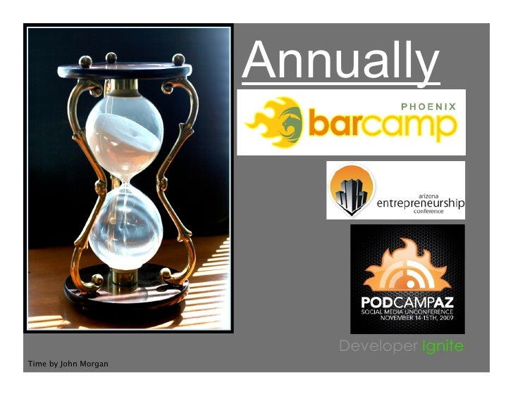 Annually                              Developer Ignite Time by John Morgan