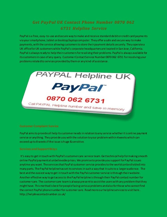 Get Paypal Uk Contact Phone Number 08700626731 Helpline Service