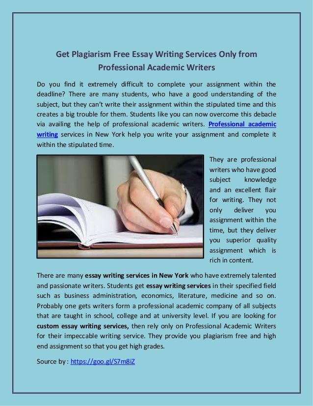 Essay writing service plagiarism