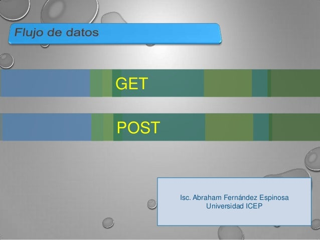 GET POST  Isc. Abraham Fernández Espinosa Universidad ICEP