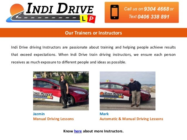 get quality driving lessons from driving school in joondalup rh slideshare net Driving Teacher manual driving school joondalup