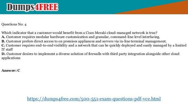 Pass your Cisco 500-551 Exam by (Dumps4free com) 500-551