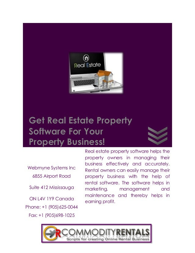 Get Real Estate Property Software For Your Property Business!                          Real estate property software helps...