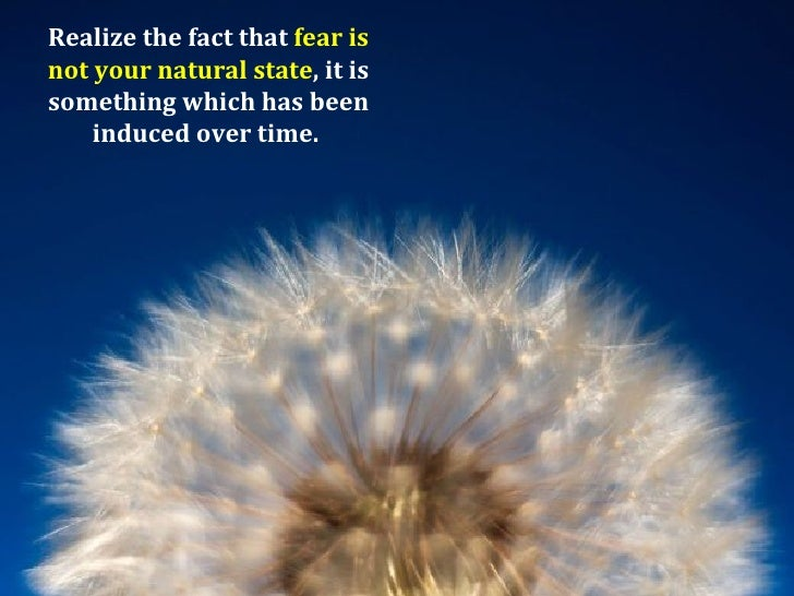 how to get rid of fear
