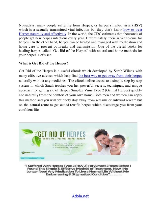 How To Treat Herpes Naturally At Home
