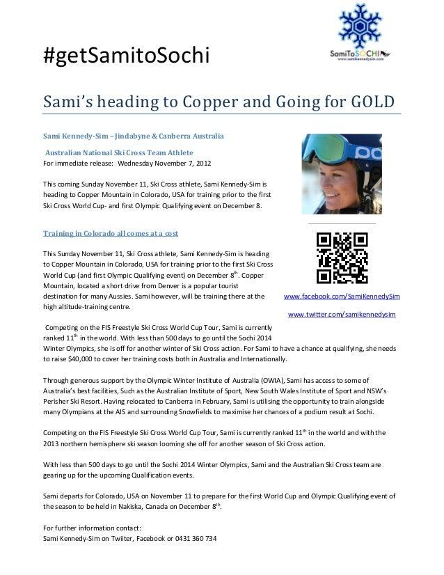 #getSamitoSochiSami's heading to Copper and Going for GOLDSami Kennedy-Sim – Jindabyne & Canberra AustraliaAustralian Nati...