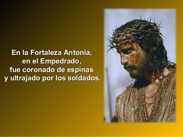 En la Fortaleza Antonia,En la Fortaleza Antonia, en el Empedrado,en el Empedrado, fue coronado de espinasfue coronado de e...