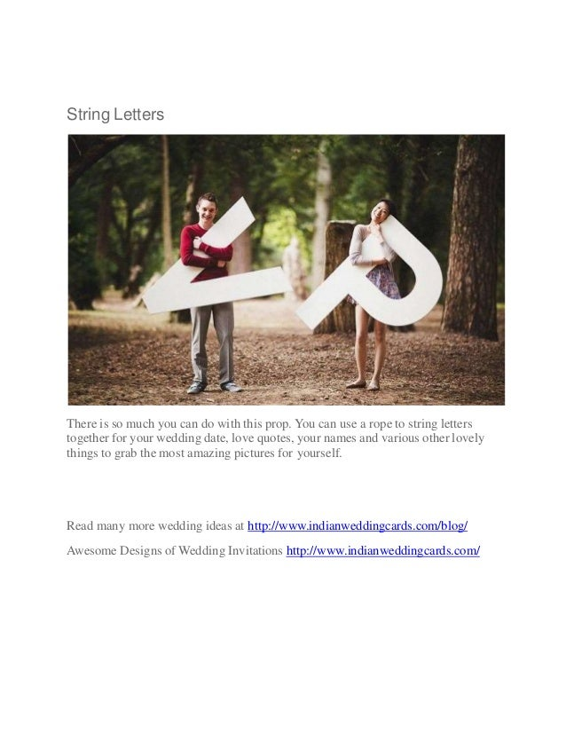 Get Sizzling Pre Wedding Photographs With Simple Props