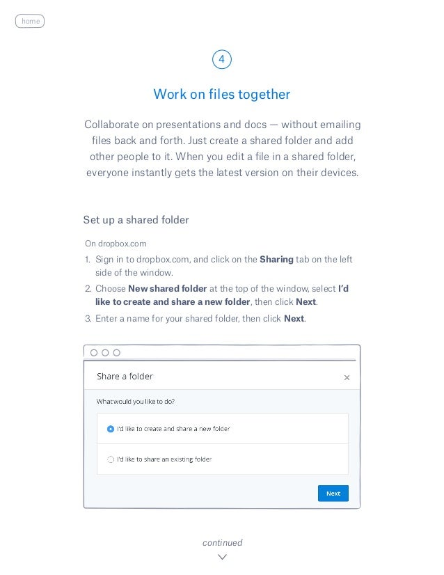 Collaborate on presentations and docs — without emailing files back and forth. Just create a shared folder and add other p...