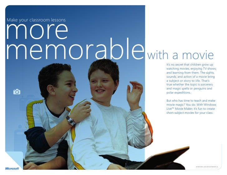more Make your classroom lessons     memorable with a movie        it's no secret that children grow up                   ...