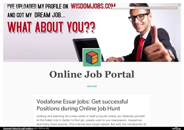 Vodafone Essar Jobs: Get successful Positions during Online Job Hunt
