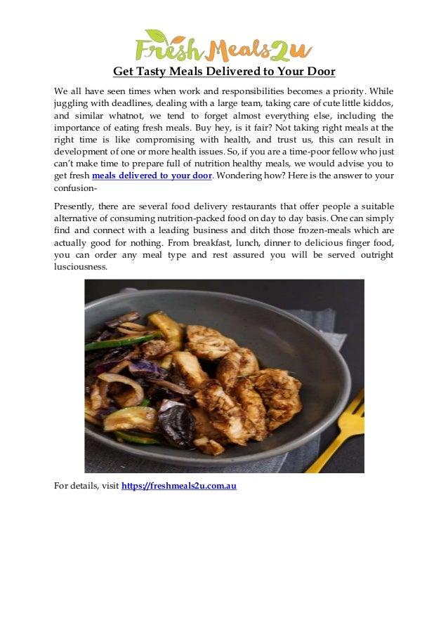 Fresh Meals Delivered >> Get Fresh Meals Delivered To Your Door