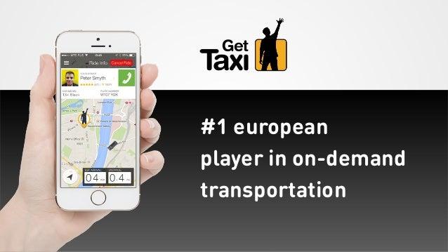 #1 european player in on-demand transportation