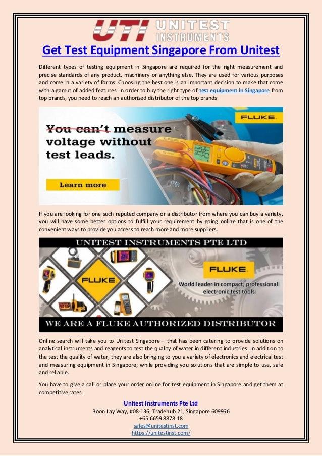 Get test equipment singapore from unitest