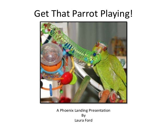Get That Parrot Playing!A Phoenix Landing PresentationByLaura Ford