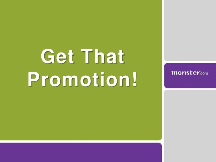 Get That Promotion!<br />