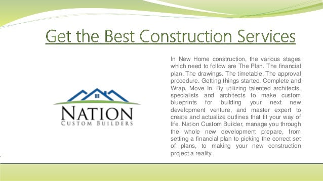 In New Home construction, the various stages which need to follow are The Plan. The financial plan. The drawings. The time...