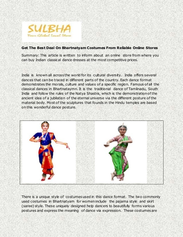 Get The Best Deal On Bhartnatyam Costumes From Reliable Online Stores Summary This article is ...  sc 1 st  SlideShare & Get the best deal on bhartnatyam costumes from reliable online stores
