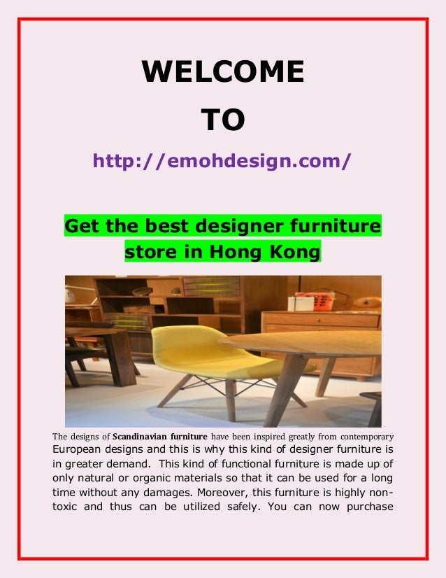WELCOME TO Http://emohdesign.com/ Get The Best Designer Furniture Store ...