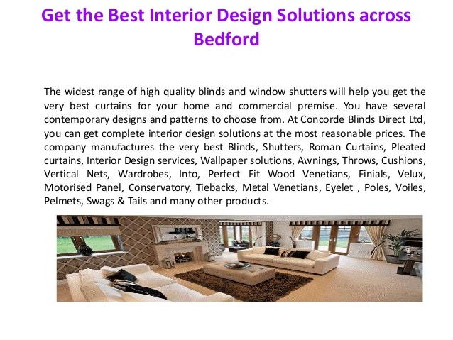 Get the best interior design solutions across bedford for Interior design solutions