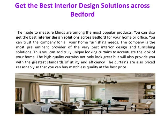 The Best Design Solutions: Get The Best Interior Design Solutions Across Bedford