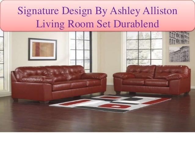 Signature Design By Ashley DuraBlend Ivory Living Room Set