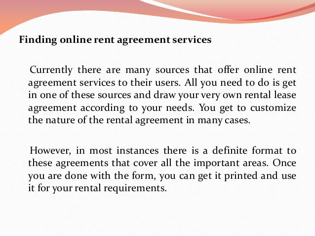 Get The Best Online Rent Agreement Services Help For Your Rental Needs