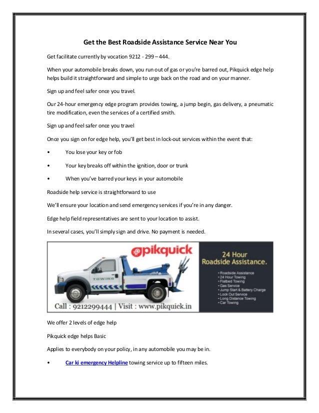 Get the best roadside assistance service near you