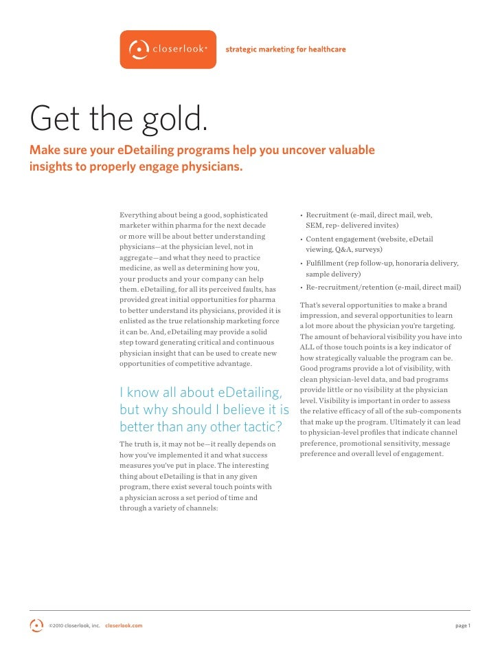 Get The Gold eDetailing