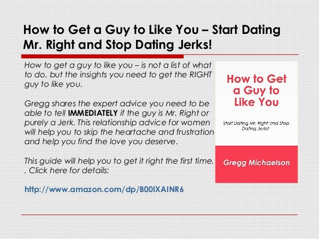 how to start dating the right guys What age should you start dating ♥ ♥ ♥ marissa rachel this feature is not available right now do guys really prefer blondes.