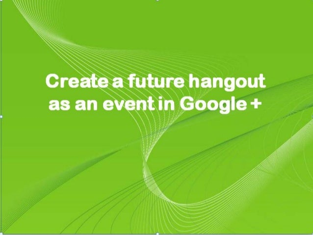 how to create a google hangout