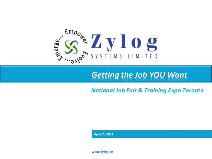 National Job Fair & Training Expo Toronto April 7 , 2011