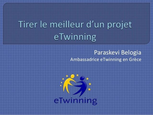 Paraskevi Belogia Ambassadrice eTwinning en Grèce