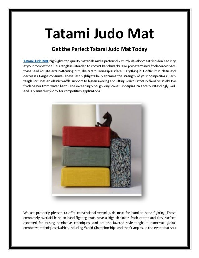 Get the Perfect Tatami Judo Mat Today