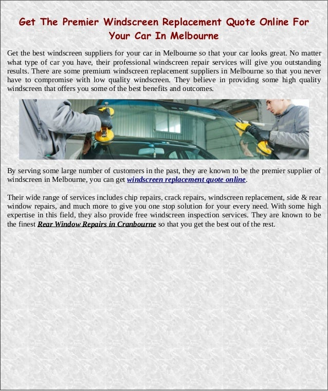 Safelite Quote: Windshield Replacement Quote Online