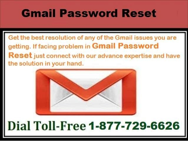 Get The Reset Gmail password With Our Toll Free 1-877-729-6626 number