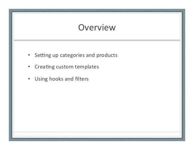 Getting started with woo commerce Slide 3