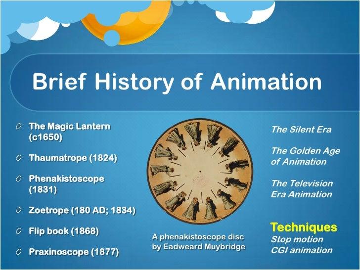 Key Frames and TweeningKeyframes were done bythe main animators andtheir assistants did theinbetween frames, knownas tween...