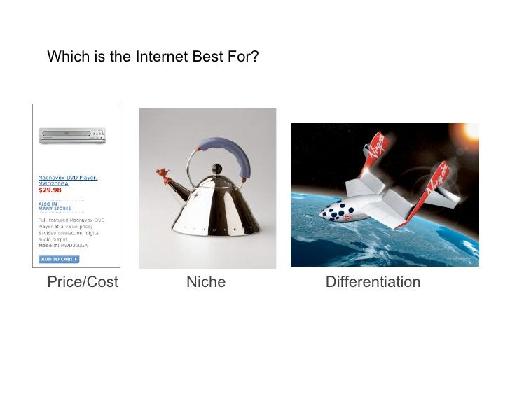 Which is the Internet Best For?     Price/Cost          Niche         Differentiation