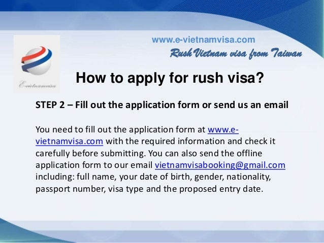 Getting rush Vietnam visa on arrival from Taiwan