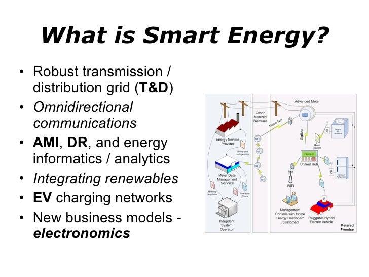 What is Smart Energy? <ul><li>Robust transmission / distribution grid ( T&D ) </li></ul><ul><li>Omnidirectional communicat...