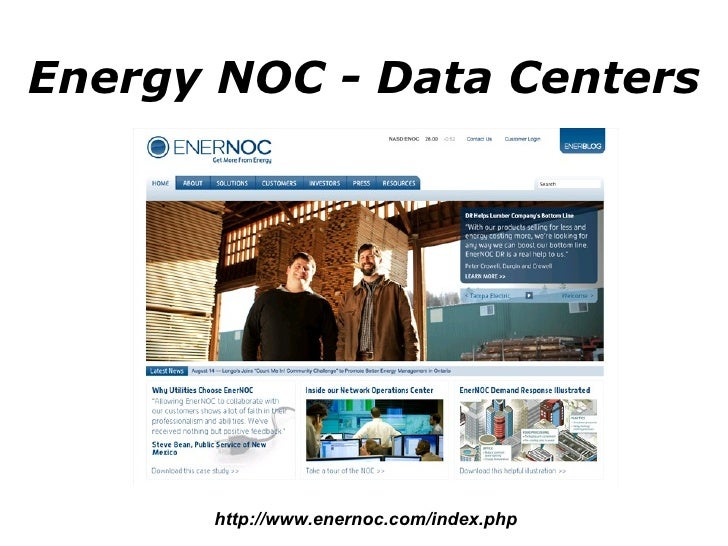 Energy NOC - Data Centers http://www.enernoc.com/index.php
